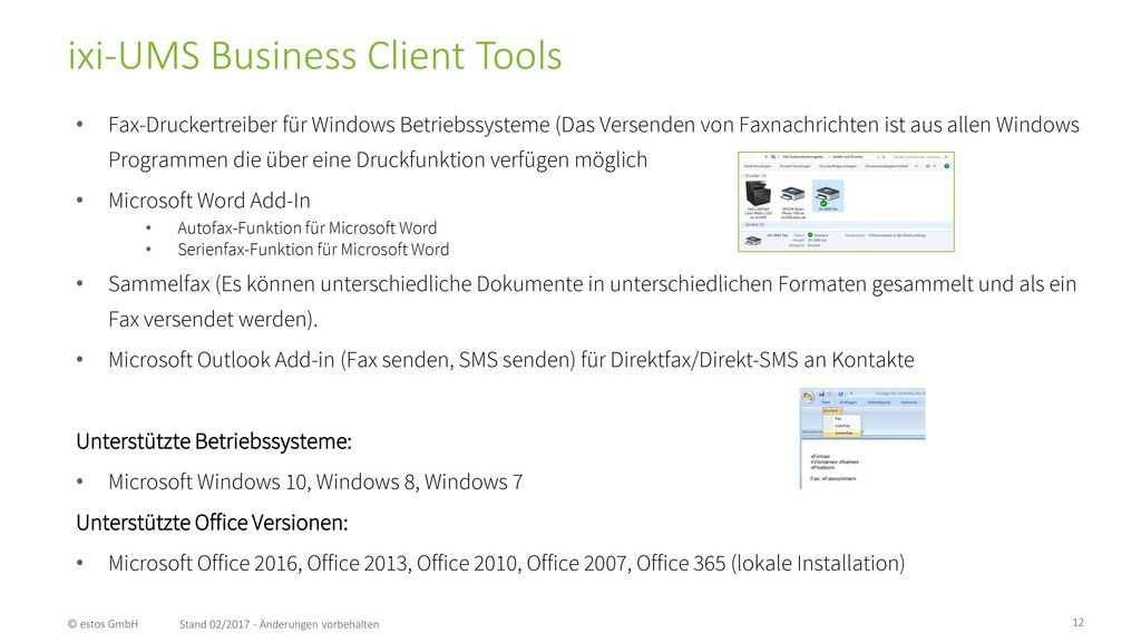 ixi-UMS Business Client Tools