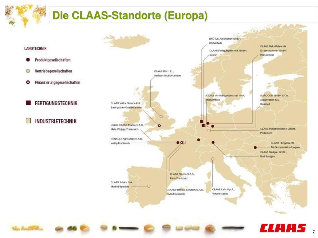 Die CLAAS-Standorte (Europa)