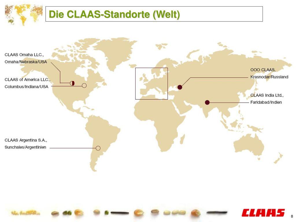 Die CLAAS-Standorte (Welt)