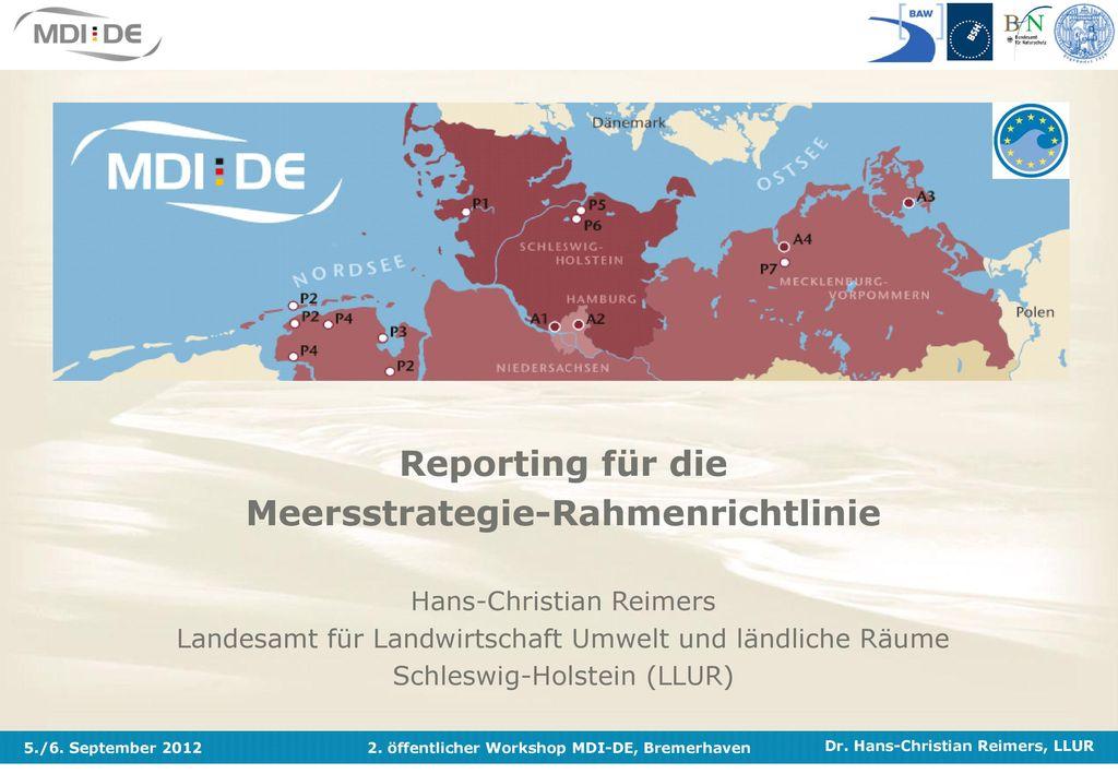 Reporting für die Meersstrategie-Rahmenrichtlinie