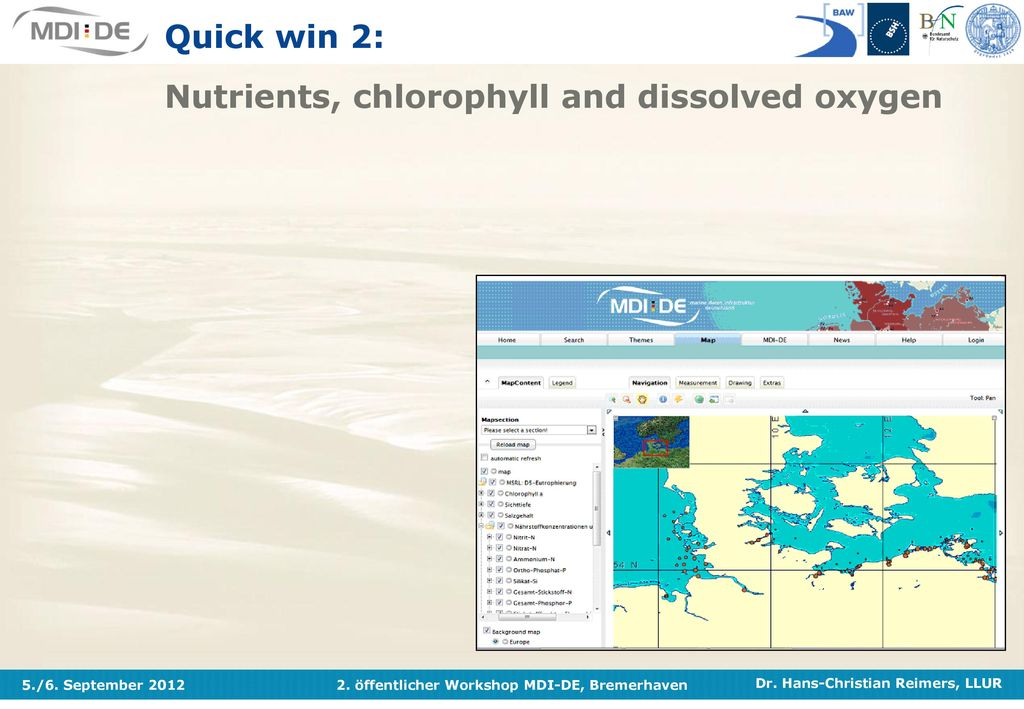 Quick win 2: Nutrients, chlorophyll and dissolved oxygen