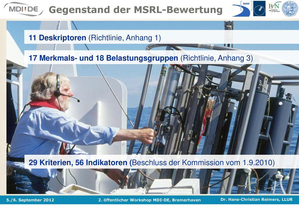 Gegenstand der MSRL-Bewertung