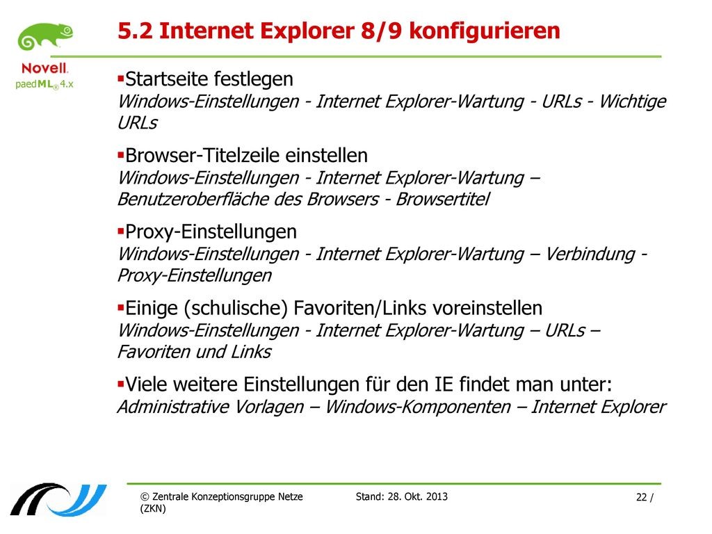 5.2 Internet Explorer 8/9 konfigurieren