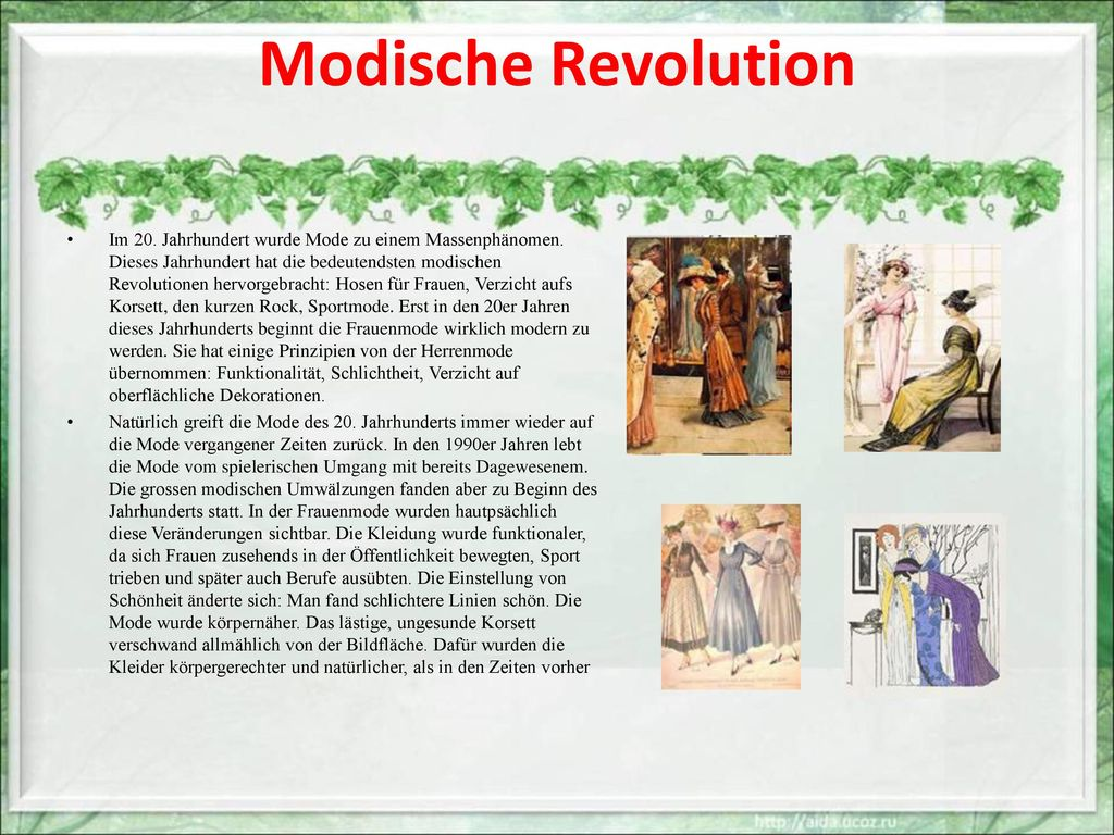 Modische Revolution