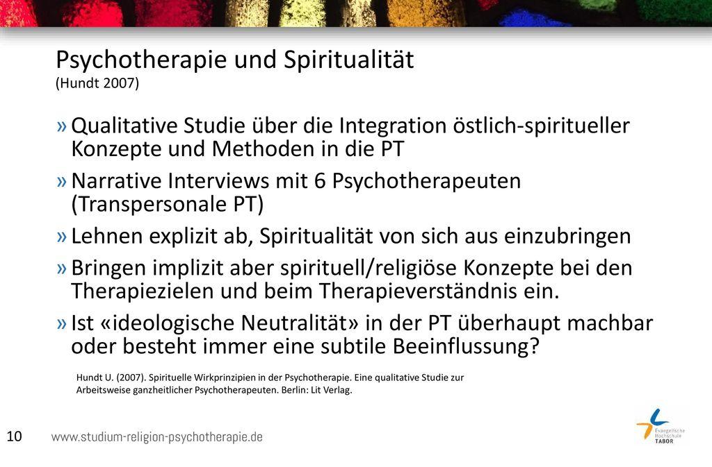 Psychotherapie und Spiritualität (Hundt 2007)