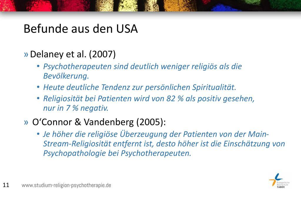 Befunde aus den USA Delaney et al. (2007)