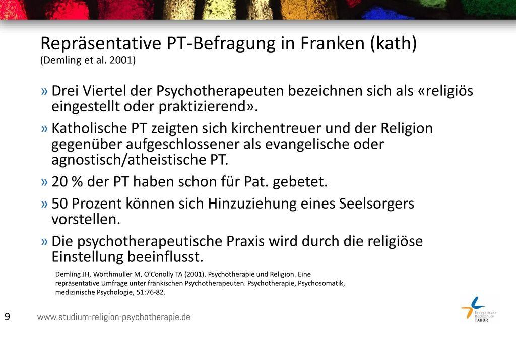 Repräsentative PT-Befragung in Franken (kath) (Demling et al. 2001)
