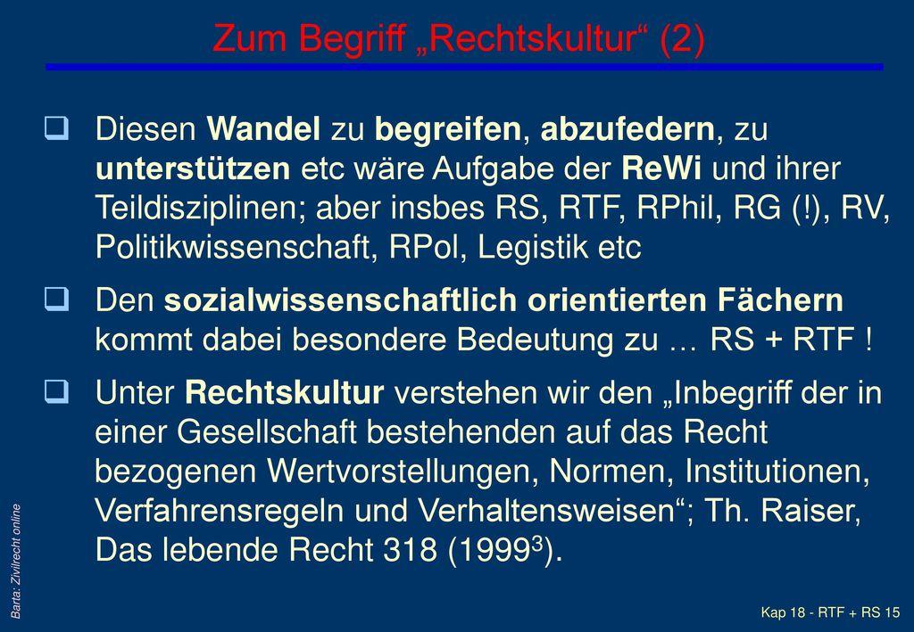 "Zum Begriff ""Rechtskultur (2)"