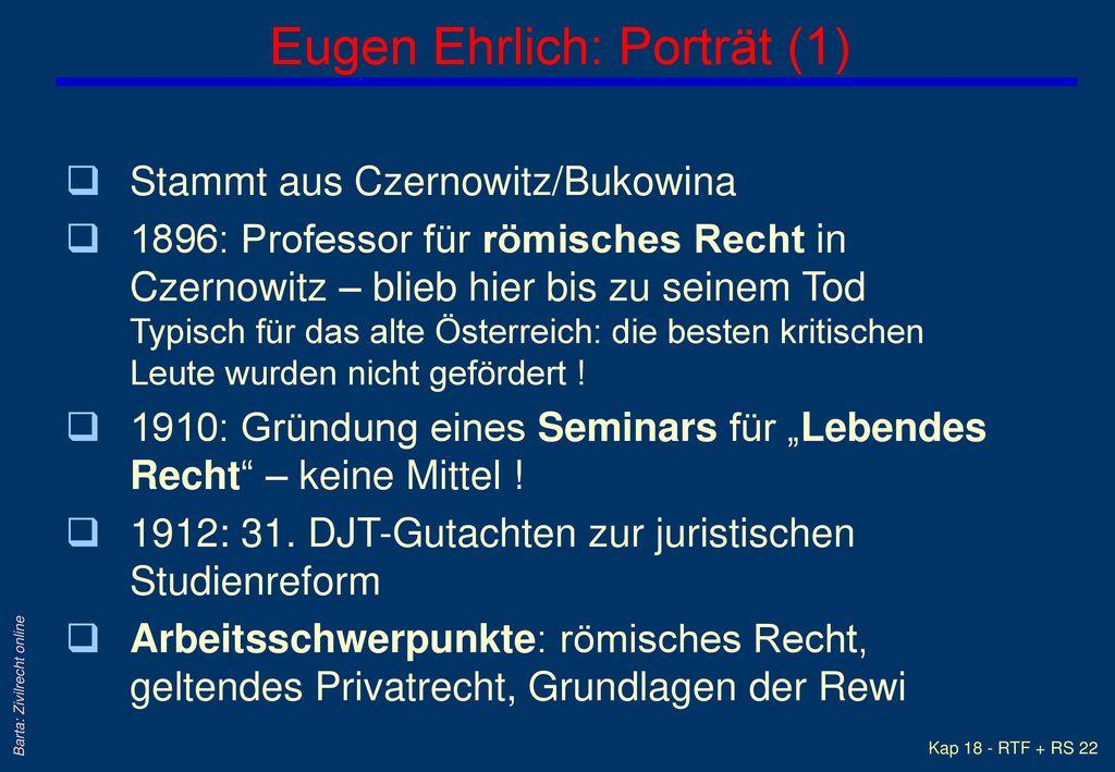 Eugen Ehrlich: Porträt (1)
