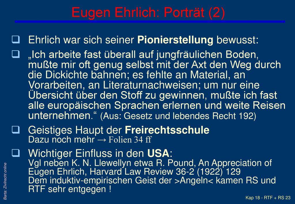 Eugen Ehrlich: Porträt (2)