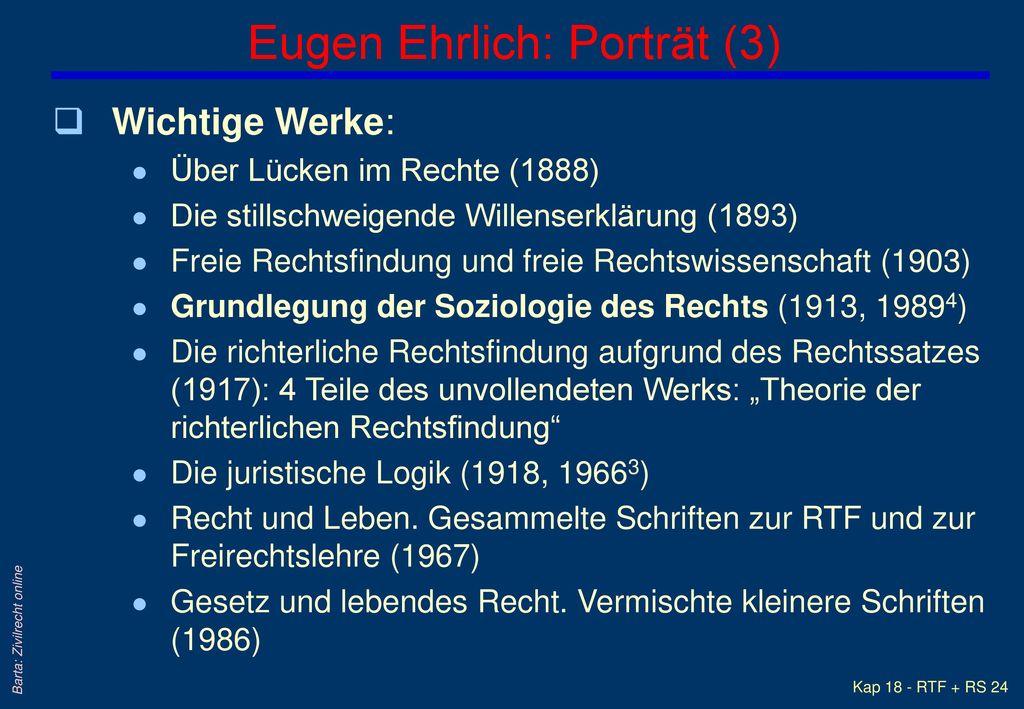 Eugen Ehrlich: Porträt (3)