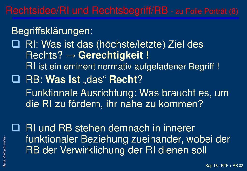 Rechtsidee/RI und Rechtsbegriff/RB - zu Folie Porträt (8)