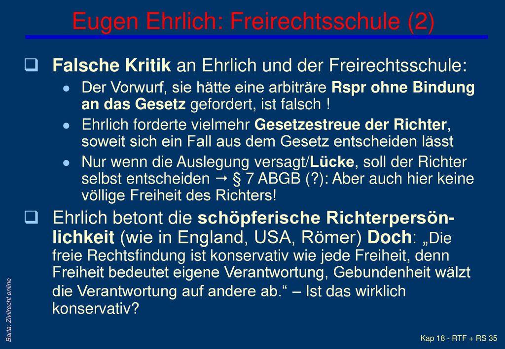 Eugen Ehrlich: Freirechtsschule (2)