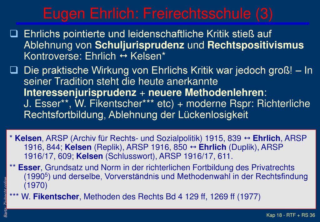 Eugen Ehrlich: Freirechtsschule (3)