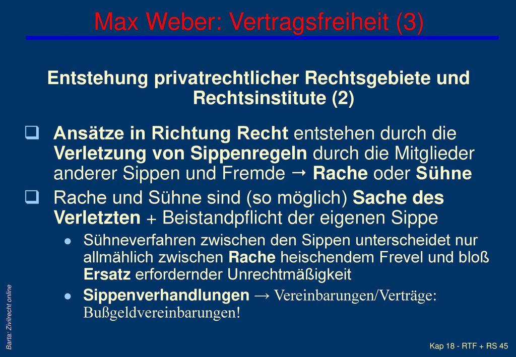 Max Weber: Vertragsfreiheit (3)