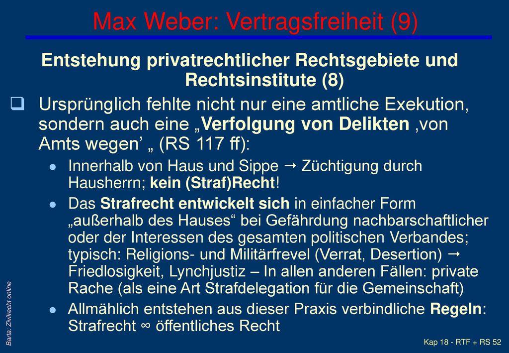 Max Weber: Vertragsfreiheit (9)