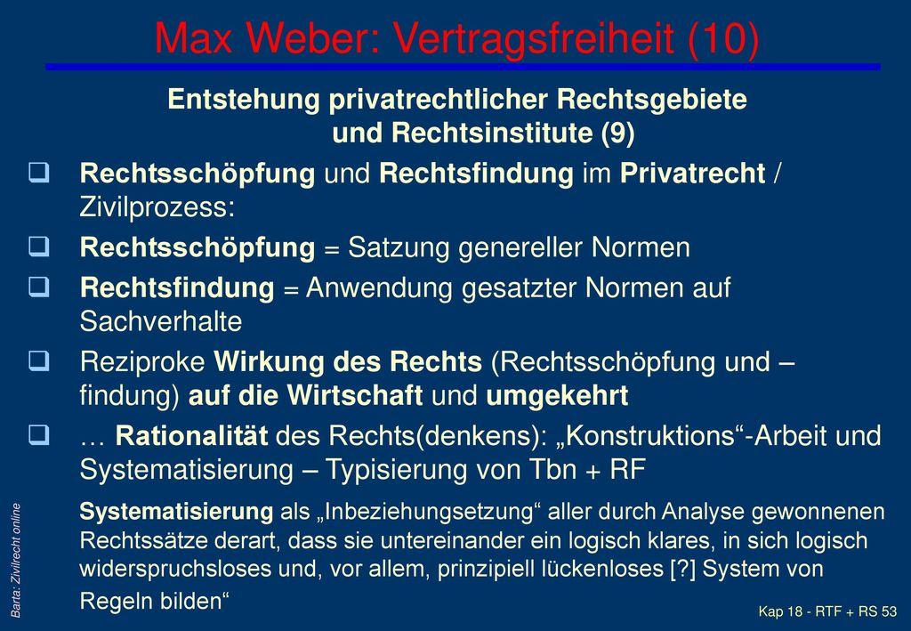 Max Weber: Vertragsfreiheit (10)