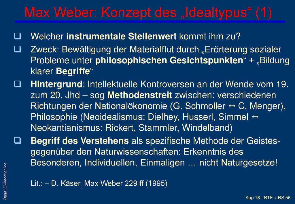 """Max Weber: Konzept des """"Idealtypus (1)"""
