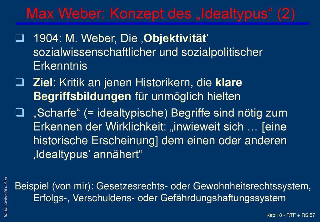 """Max Weber: Konzept des """"Idealtypus (2)"""