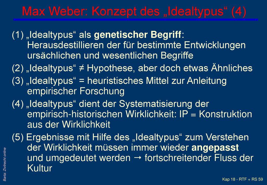 """Max Weber: Konzept des """"Idealtypus (4)"""