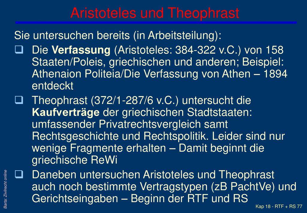 Aristoteles und Theophrast