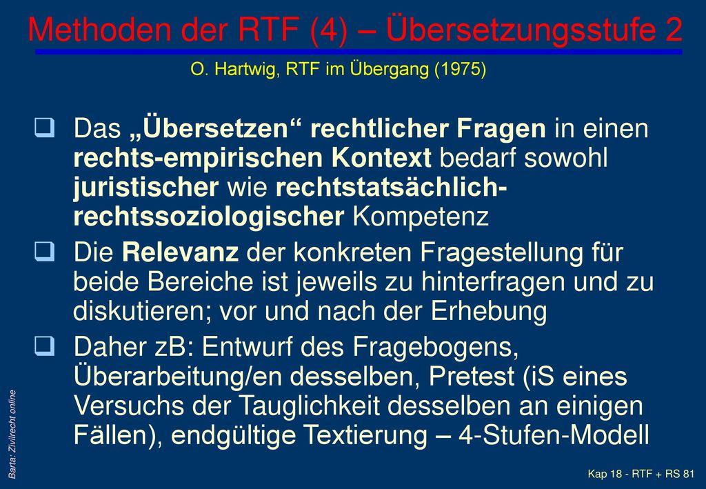 Methoden der RTF (4) – Übersetzungsstufe 2