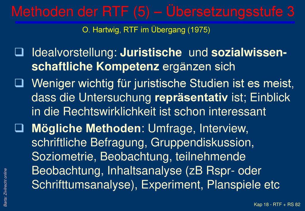 Methoden der RTF (5) – Übersetzungsstufe 3
