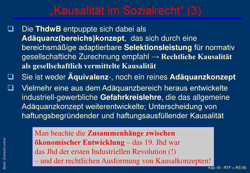 """""""Kausalität im Sozialrecht (3)"""
