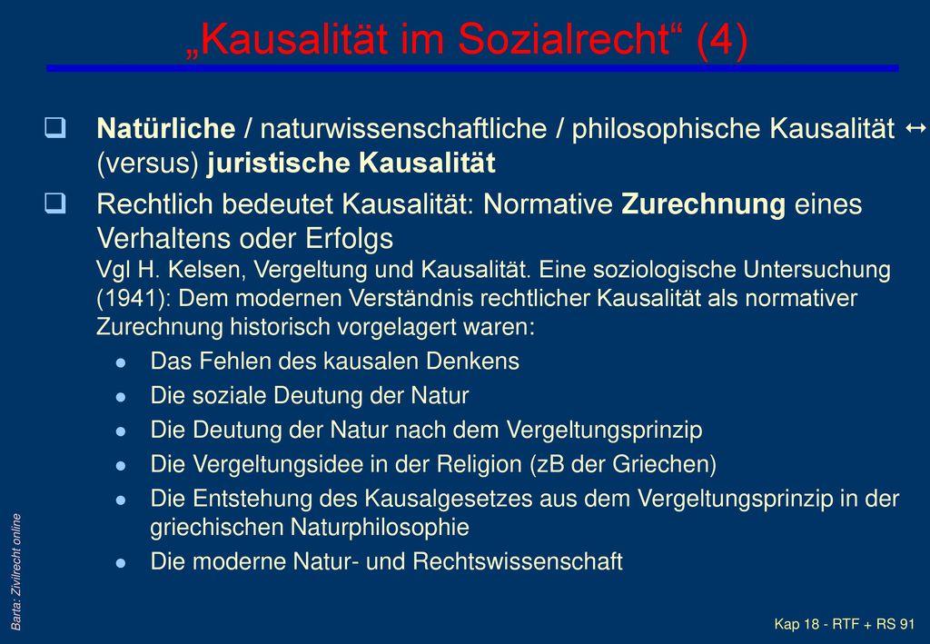 """""""Kausalität im Sozialrecht (4)"""