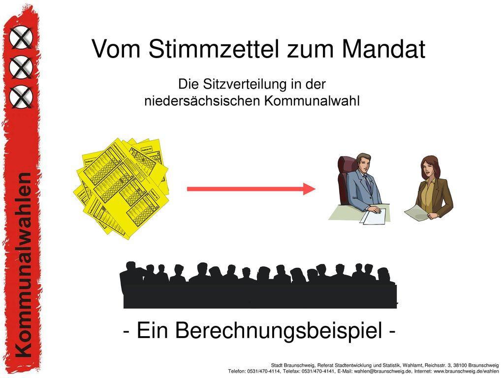 Die Sitzverteilung in der niedersächsischen Kommunalwahl
