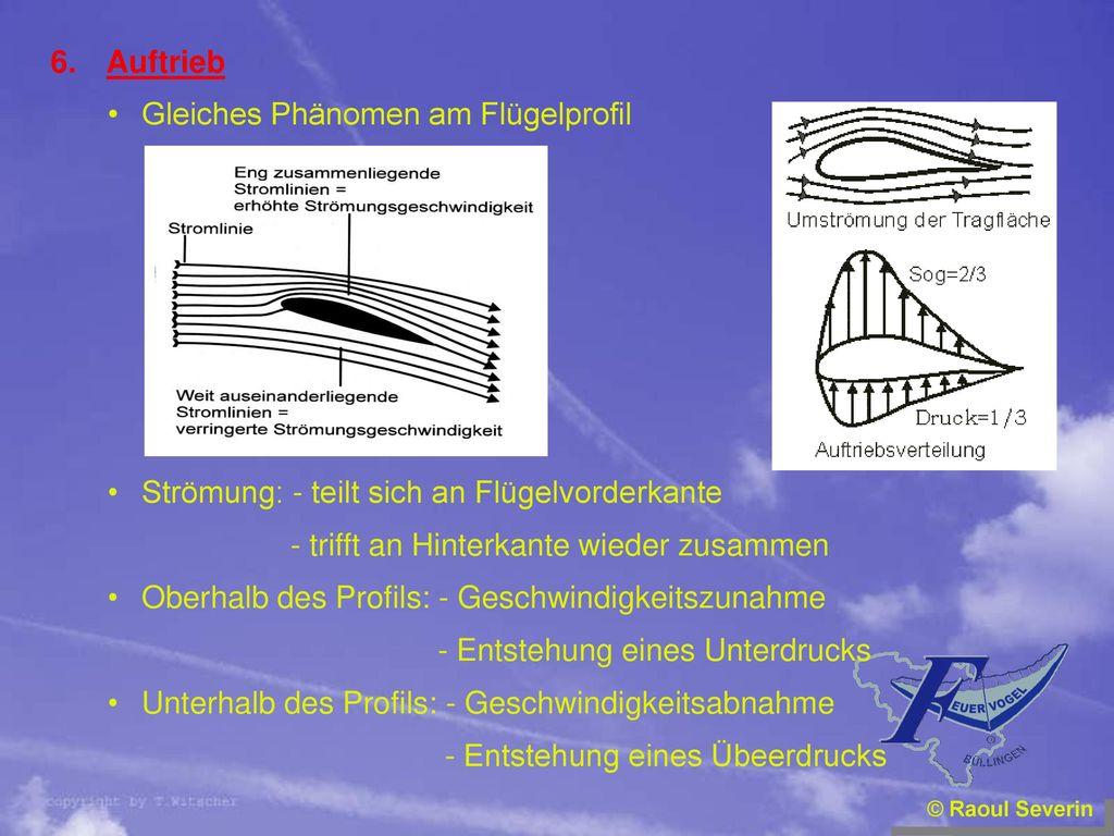 Gleiches Phänomen am Flügelprofil