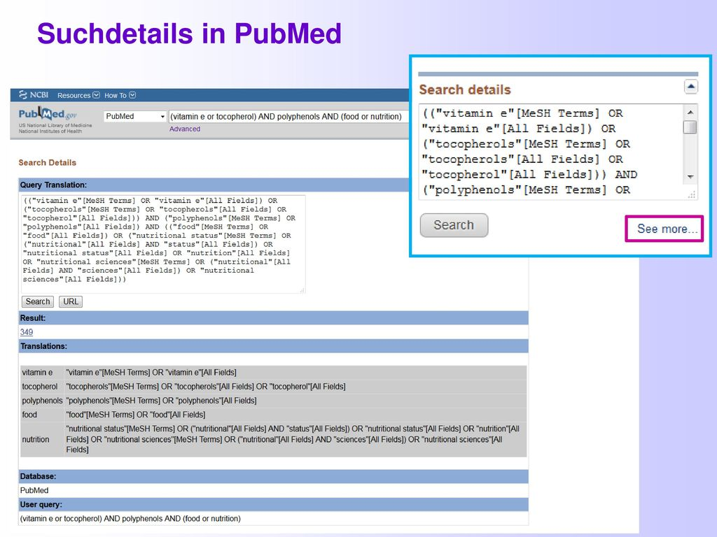 Suchdetails in PubMed