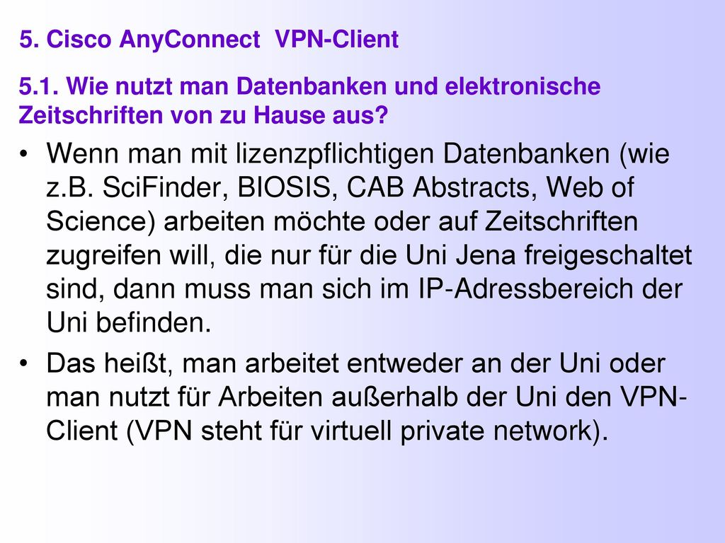 5. Cisco AnyConnect VPN-Client