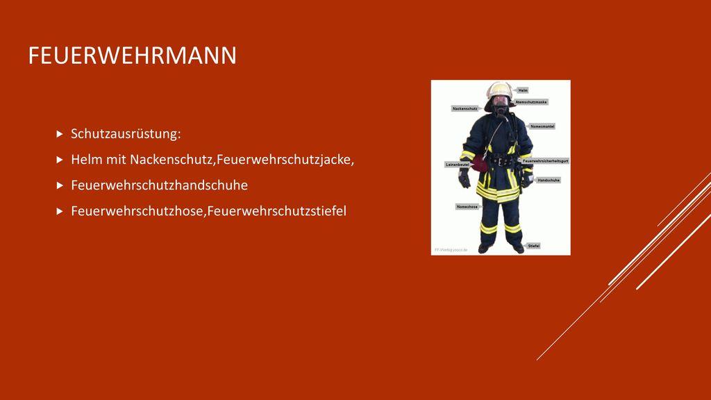 Feuerwehrmann Schutzausrüstung: