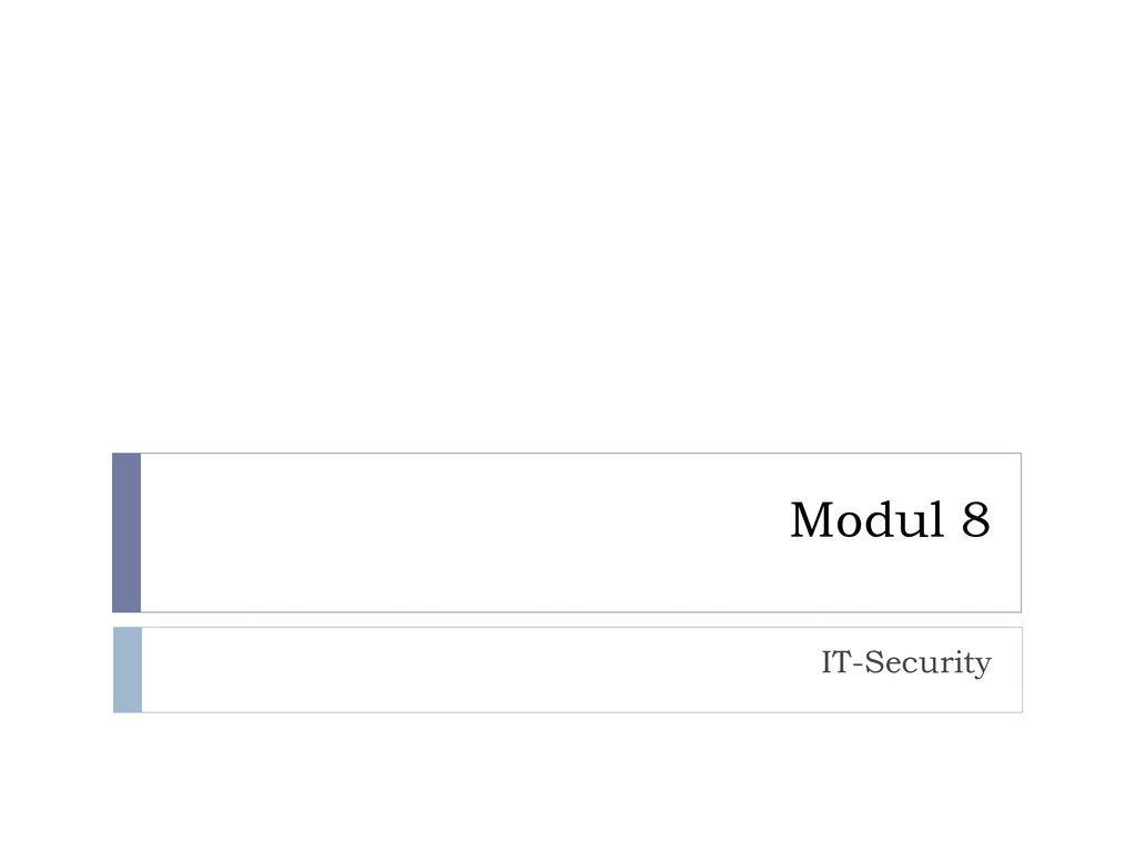Modul 8 IT-Security