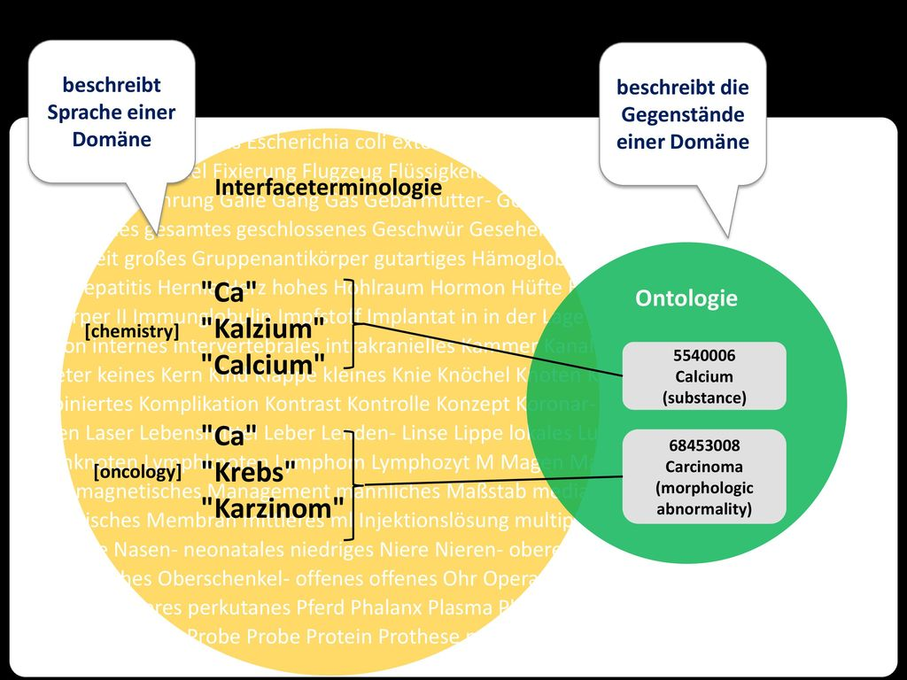 Ca Kalzium Calcium Ca Krebs Karzinom Interfaceterminologie