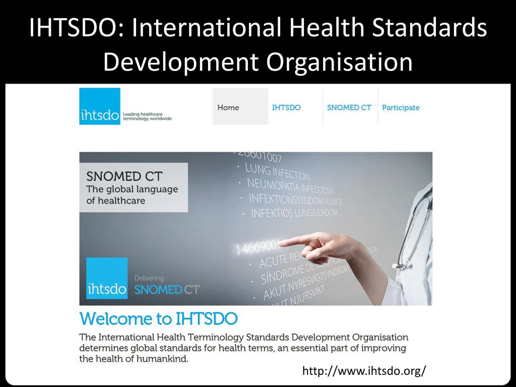 IHTSDO: International Health Standards Development Organisation