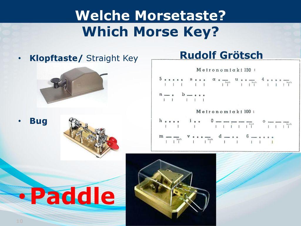 Welche Morsetaste Which Morse Key