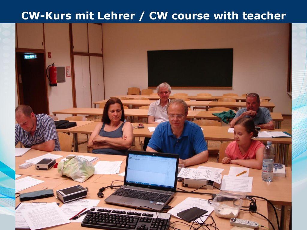 CW-Kurs mit Lehrer / CW course with teacher Englisch