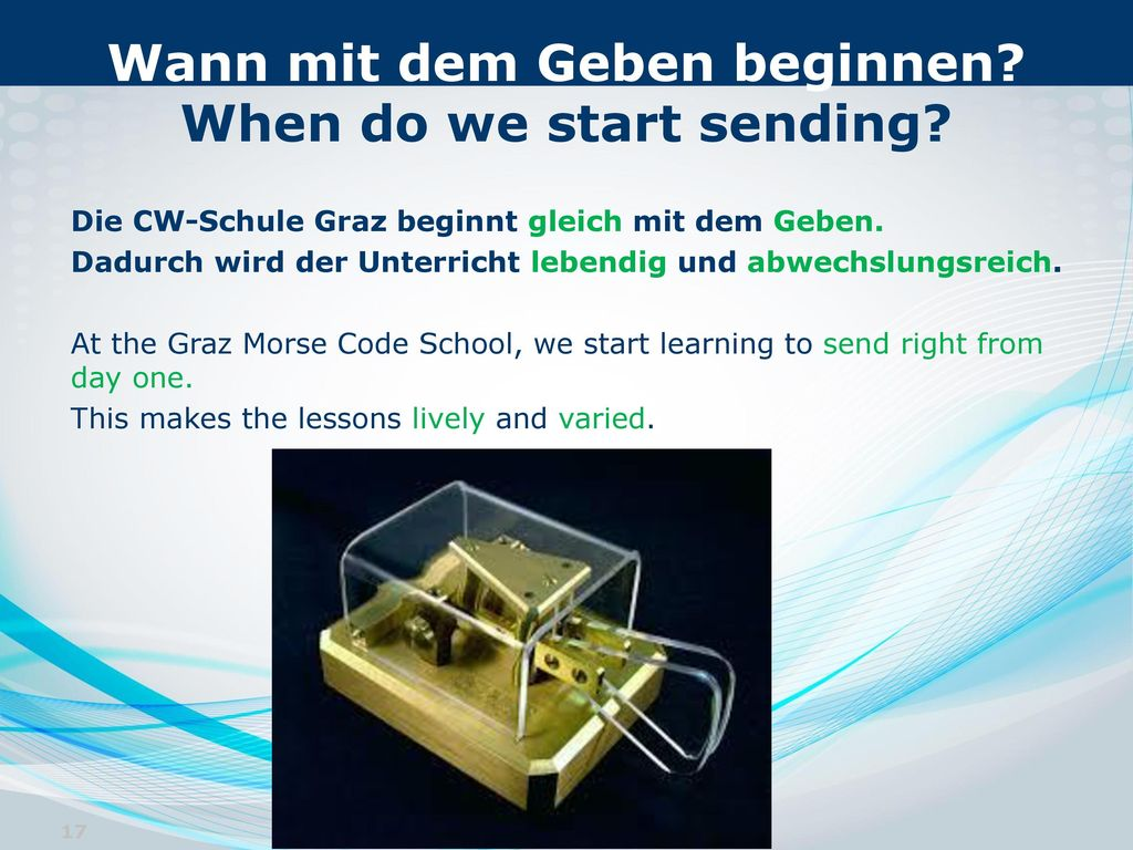 Wann mit dem Geben beginnen When do we start sending