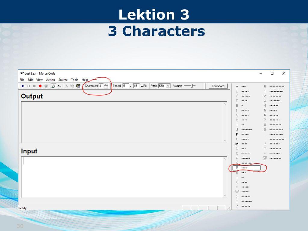 Lektion 3 3 Characters
