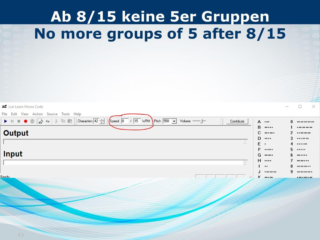 Ab 8/15 keine 5er Gruppen No more groups of 5 after 8/15