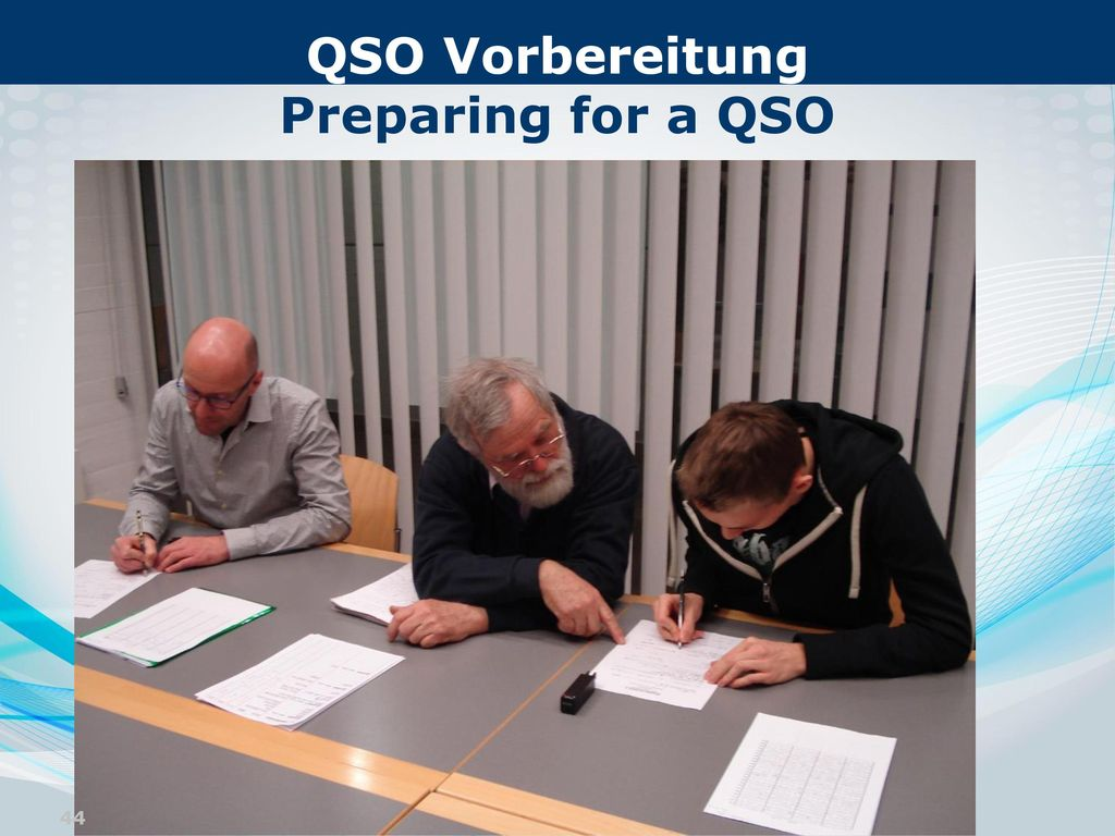 QSO Vorbereitung Preparing for a QSO