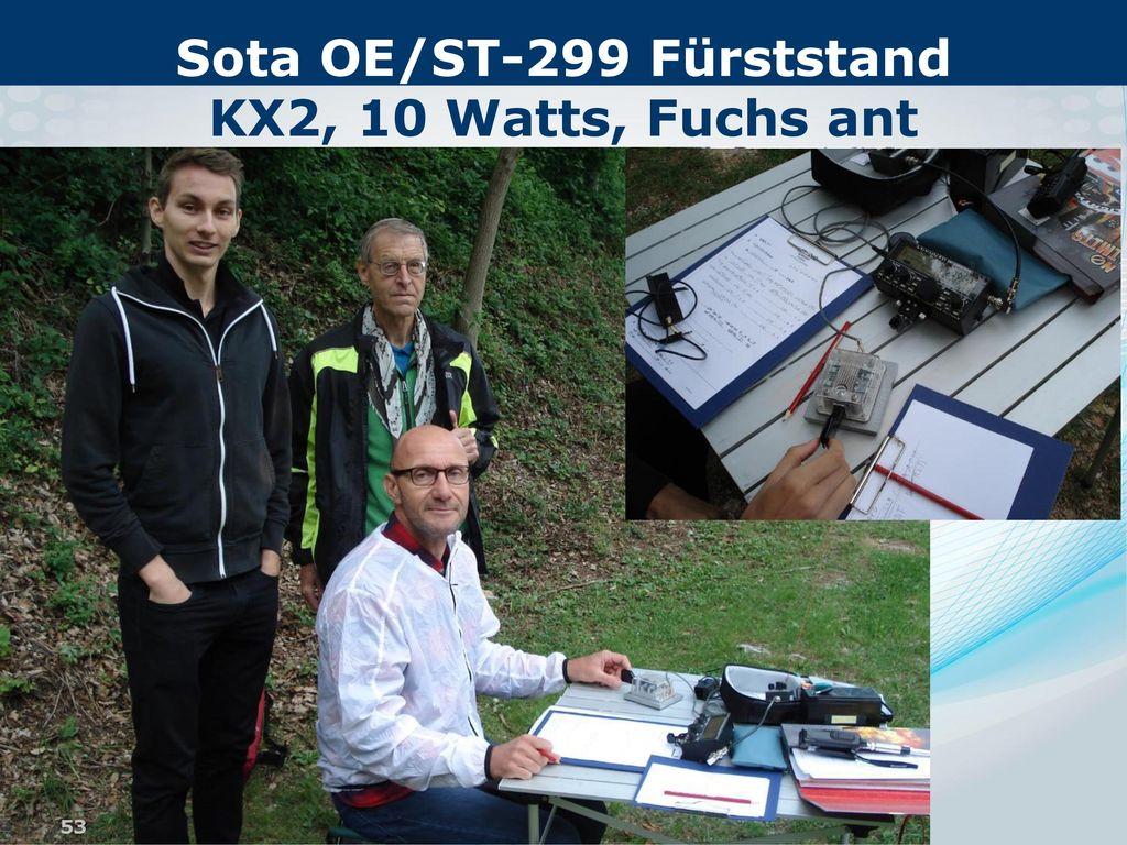 Sota OE/ST-299 Fürststand KX2, 10 Watts, Fuchs ant
