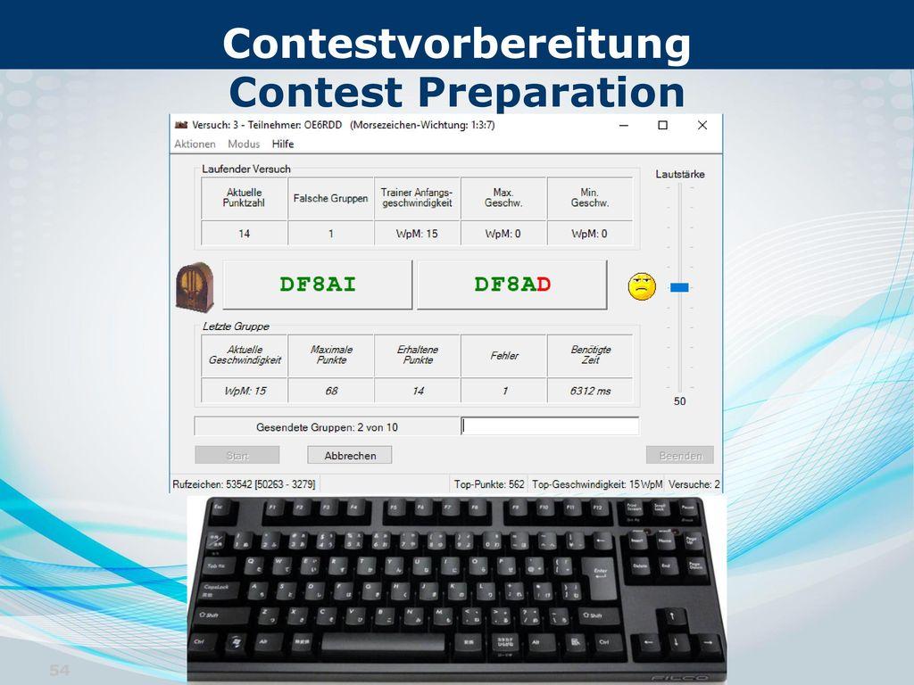 Contestvorbereitung Contest Preparation