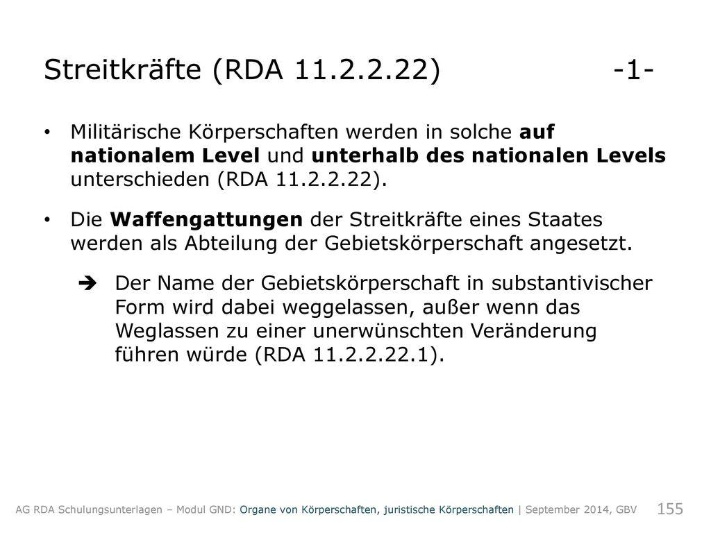 Streitkräfte (RDA 11.2.2.22) -1-