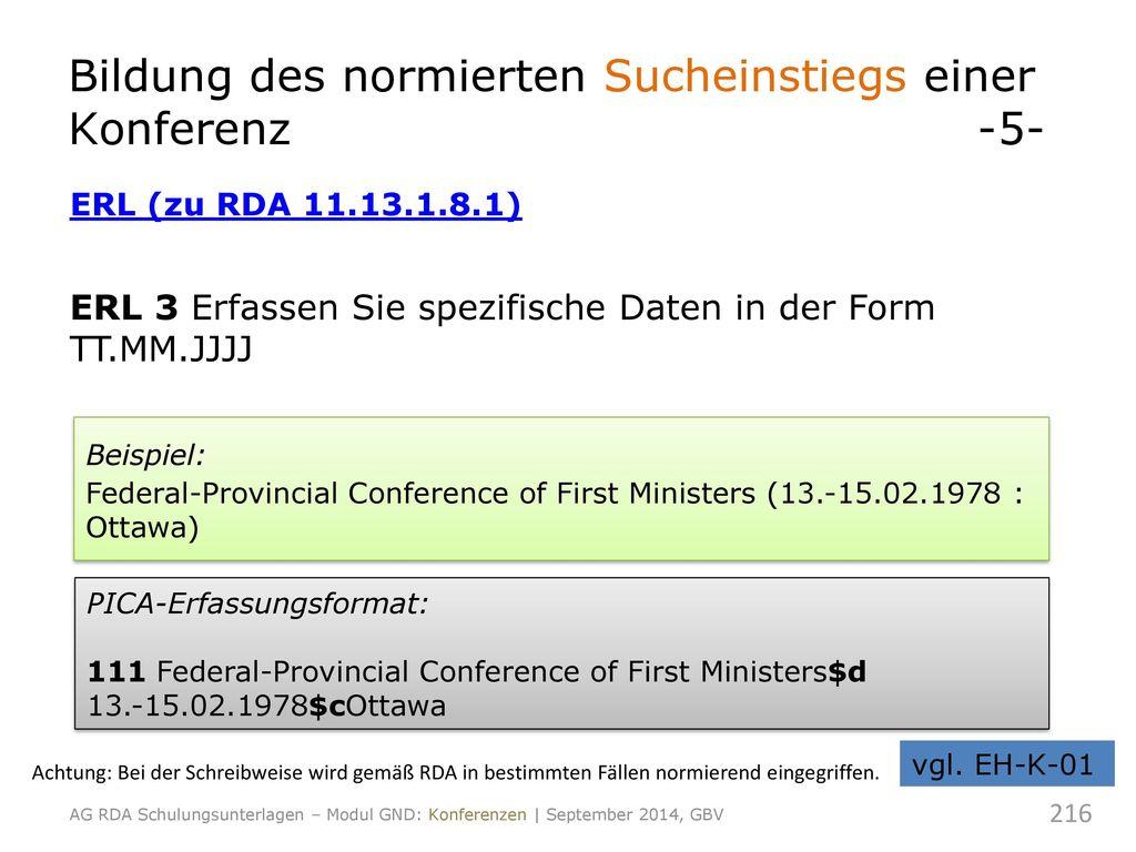 Bildung des normierten Sucheinstiegs einer Konferenz -5-