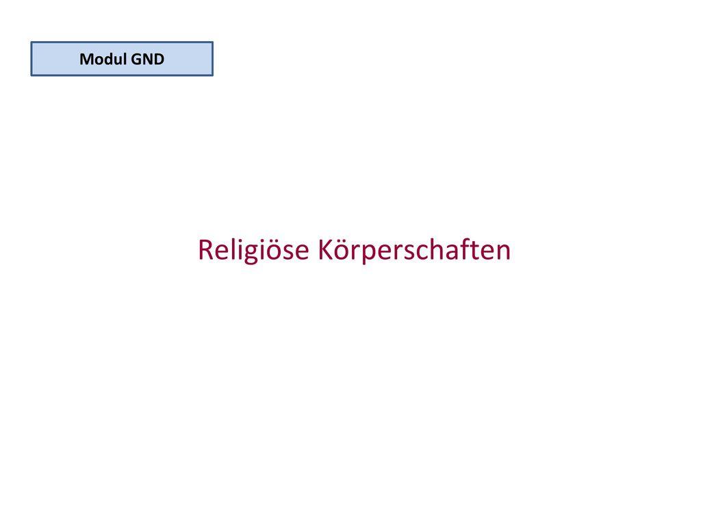 Religiöse Körperschaften