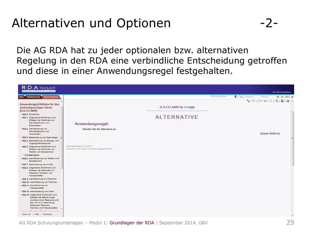 Alternativen und Optionen -2-