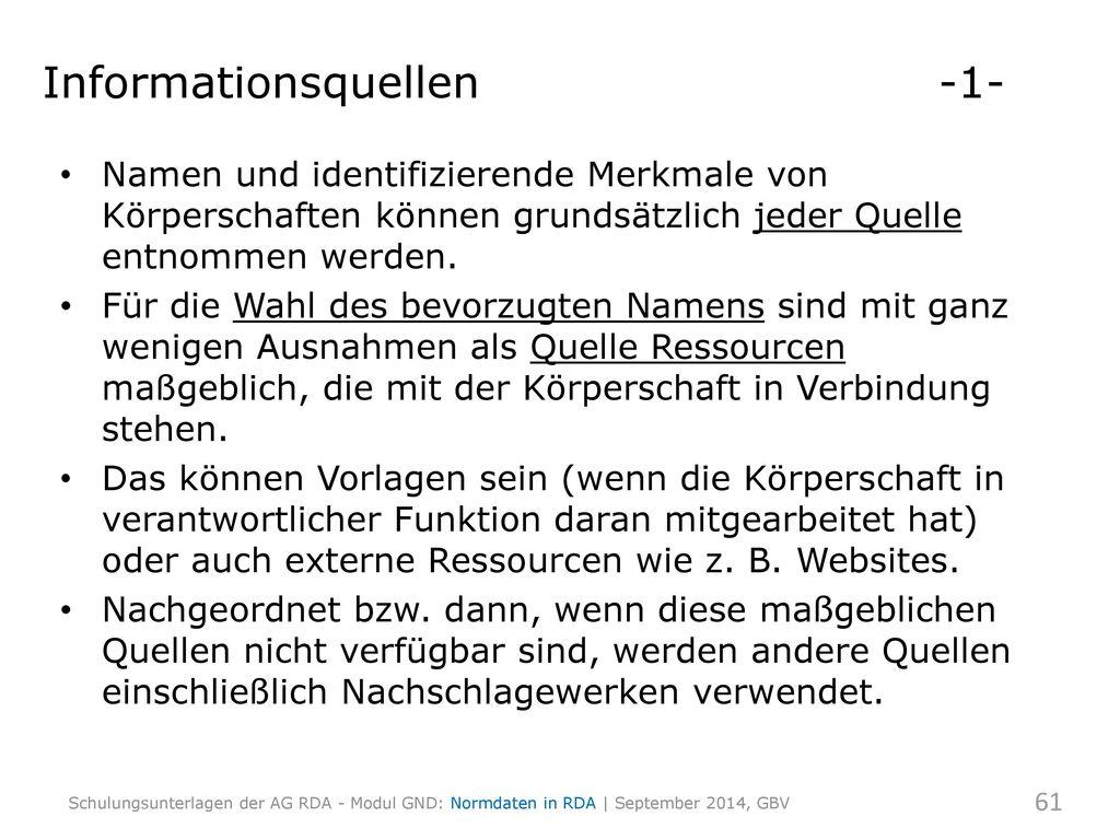 Informationsquellen -1-
